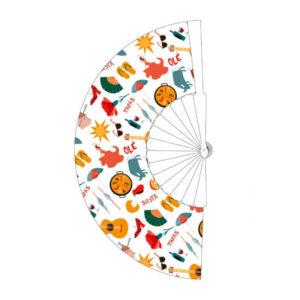 Abanico decorado con tópicos españoles