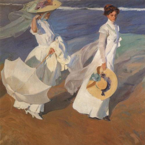 "Art Print  ""Walk on the seashore"""
