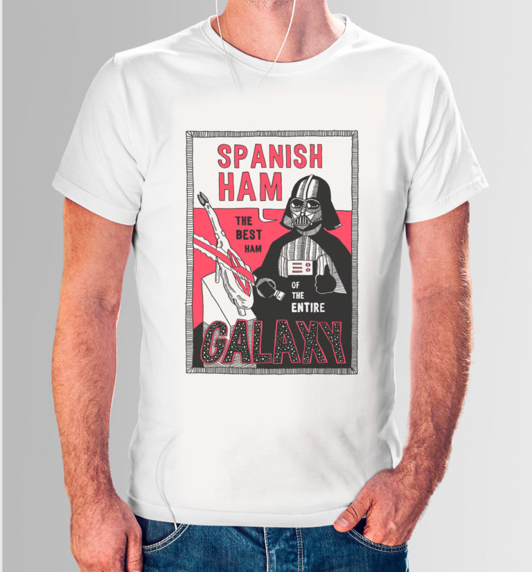 Camiseta The best ham of the entire Galaxy