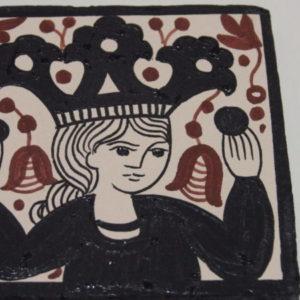 """Ceramic tile  Socarrat """"The Queen""""."""
